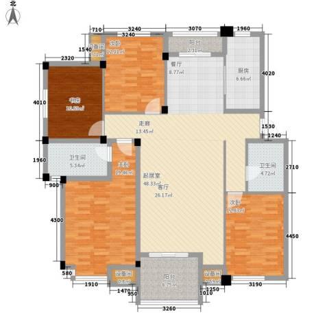 瓜渚绿洲4室0厅2卫1厨149.00㎡户型图