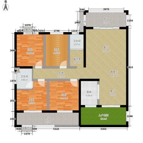 江临天下4室1厅2卫1厨165.00㎡户型图