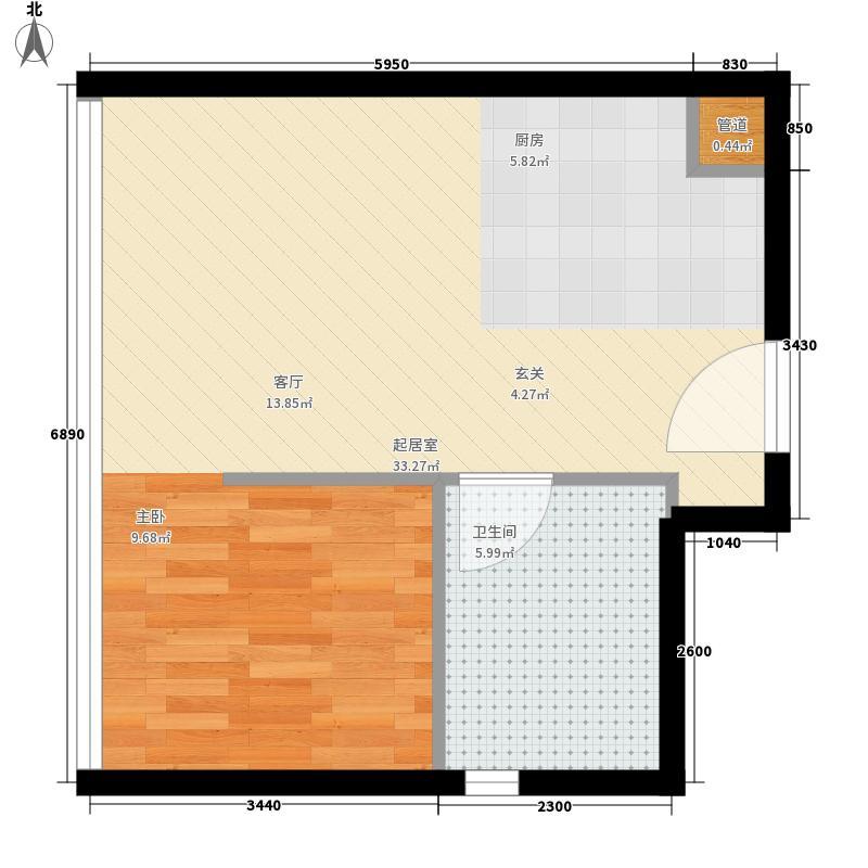 南海星汇云锦43.00㎡公寓10单元1室户型