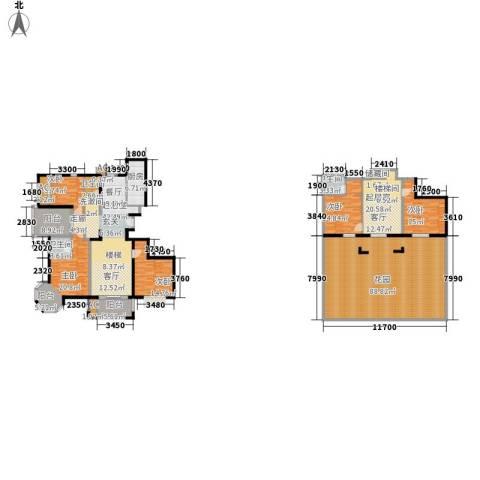 金隅花石匠5室0厅3卫1厨261.43㎡户型图