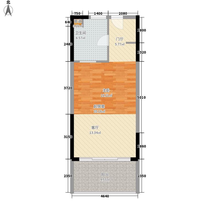 博鳌宝莲城57.79㎡玉海公寓H02/0户型