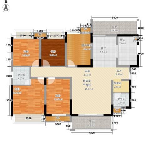 新里程潇湘名城4室0厅2卫1厨172.00㎡户型图