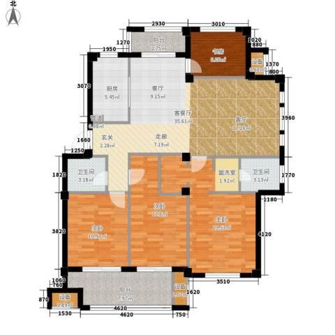 天一名都4室1厅2卫1厨157.00㎡户型图