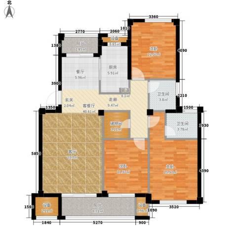 天一名都3室1厅2卫1厨157.00㎡户型图