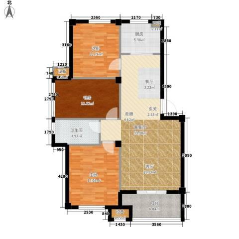 天一名都3室1厅1卫1厨125.00㎡户型图