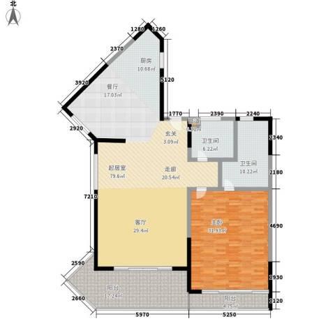 博鳌宝莲城1室0厅2卫0厨232.00㎡户型图