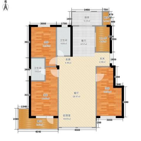 锦绣公馆3室0厅2卫1厨150.00㎡户型图