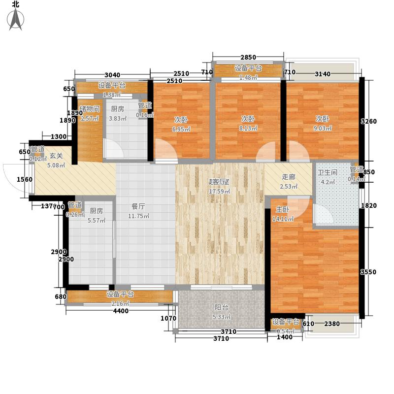 南海万科广场113.00㎡3座户型