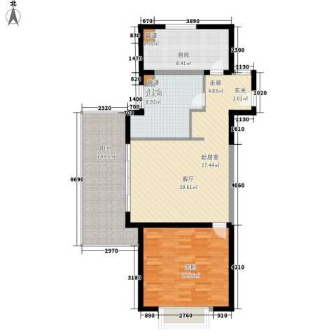 博鳌宝莲城1室0厅1卫1厨89.00㎡户型图
