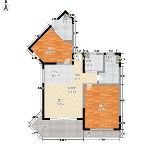 博鳌宝莲城2室0厅2卫1厨131.00㎡户型图