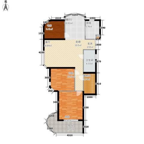 望湖・长岛府3室1厅1卫1厨121.00㎡户型图