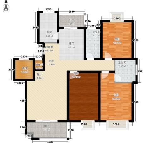 兴福锦园3室0厅2卫1厨145.00㎡户型图