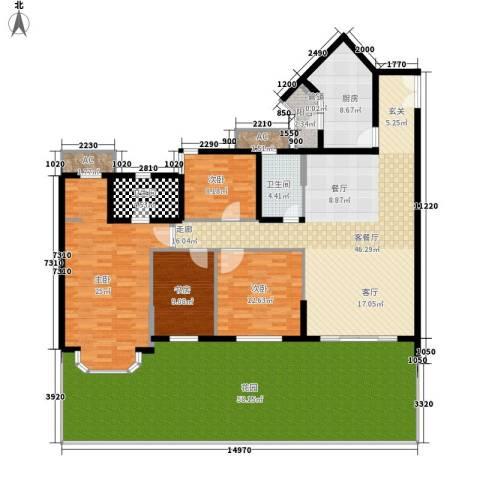 祈福新村活力花园4室1厅2卫1厨202.00㎡户型图