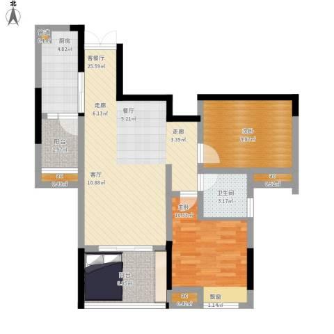 首创光和城2室1厅1卫1厨97.00㎡户型图