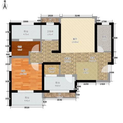 枫韵润园2室1厅1卫1厨94.00㎡户型图