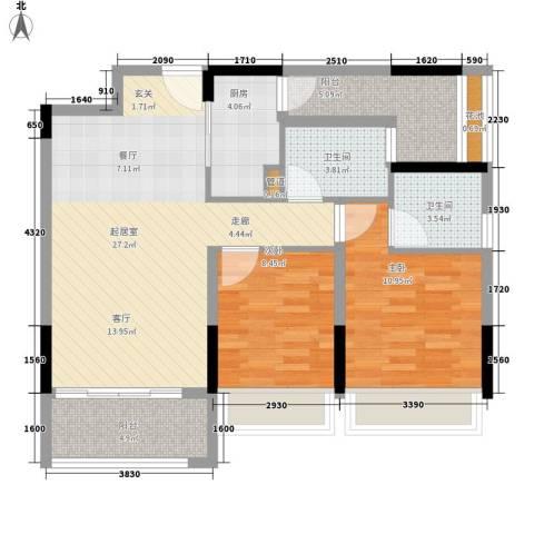 诺德名筑2室0厅2卫1厨92.00㎡户型图