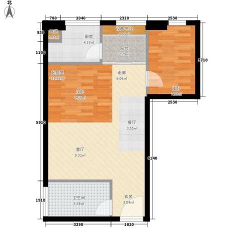 印象新城1室0厅1卫1厨75.00㎡户型图