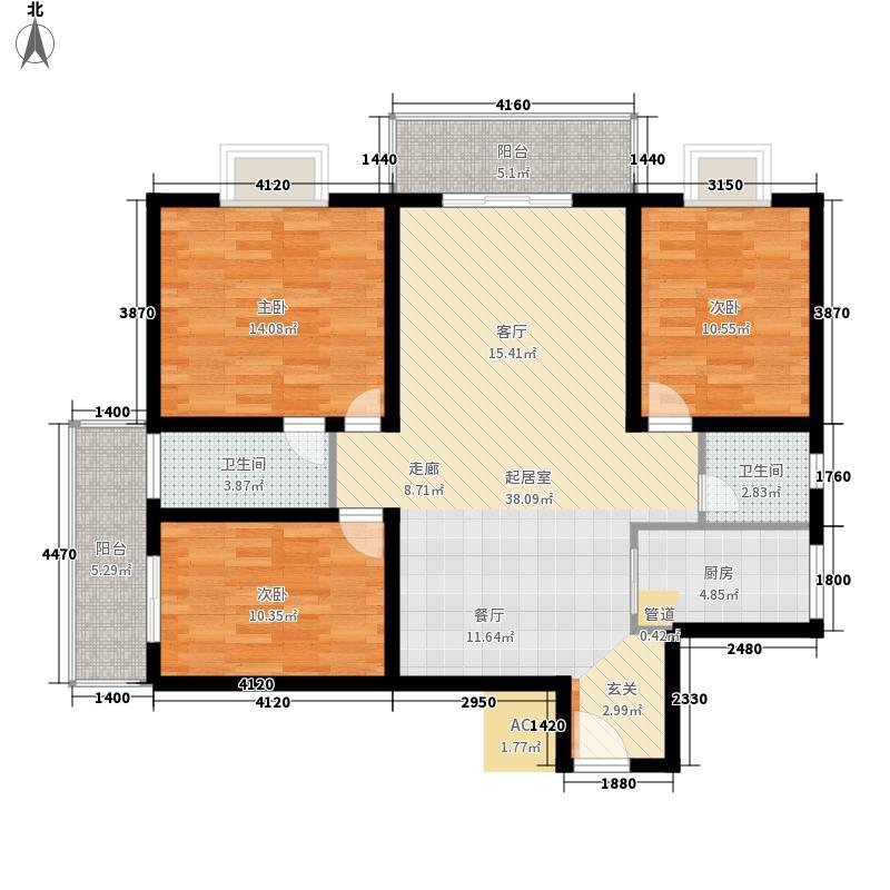 荣民国际公寓108.00㎡面积10800m户型