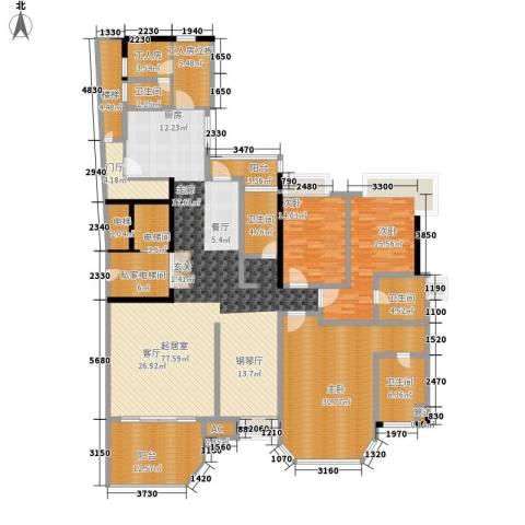 珠江帝景苑3室0厅4卫0厨230.00㎡户型图