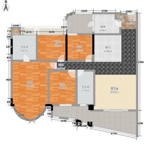 珠江帝景苑4室0厅2卫1厨237.00㎡户型图