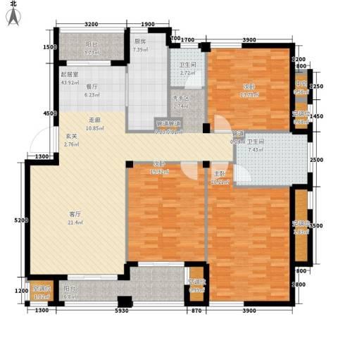 香水湾3室0厅2卫1厨141.00㎡户型图