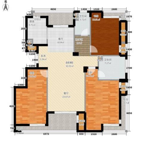 香水湾3室0厅2卫1厨155.00㎡户型图