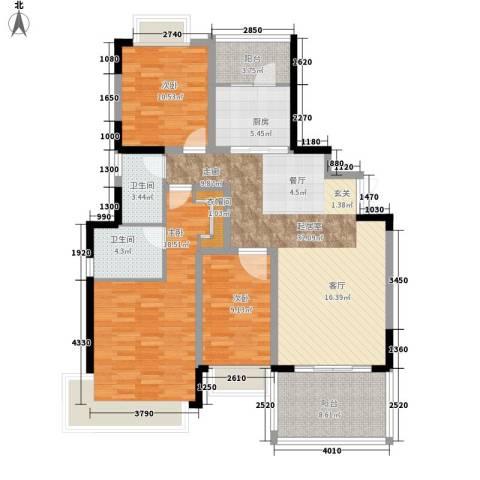 大信海岸家园3室0厅2卫1厨139.00㎡户型图