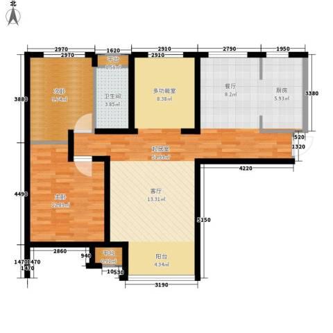 黎郡新宇2室0厅1卫0厨113.00㎡户型图