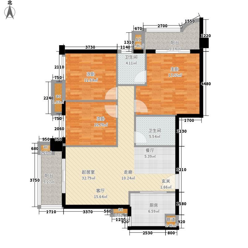 世纪彩城116.85㎡彩-K面积11685m户型