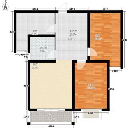 香格里拉花园2室0厅1卫1厨109.00㎡户型图