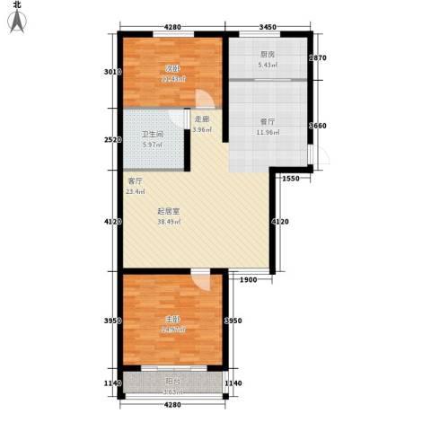 香格里拉花园2室0厅1卫1厨112.00㎡户型图