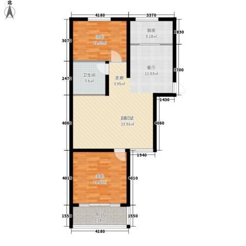 香格里拉花园2室0厅1卫1厨90.00㎡户型图