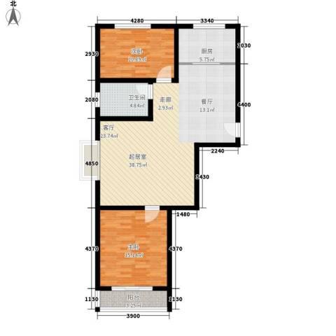 香格里拉花园2室0厅1卫1厨111.00㎡户型图