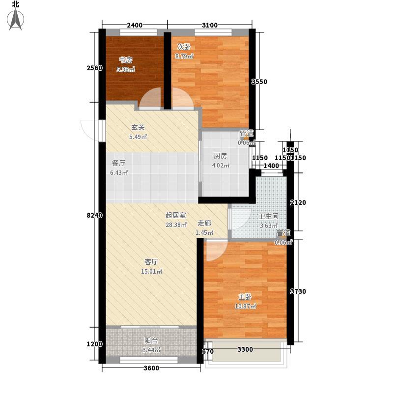 西溪永乐城89.00㎡C舒适户型3室2厅1卫