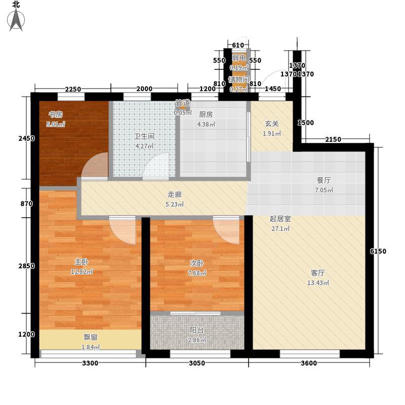 西溪永乐城89.00㎡B2阳光户型3室2厅1卫