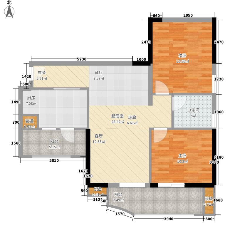 翠城花园87.51㎡21栋5-33层08单面积8751m户型