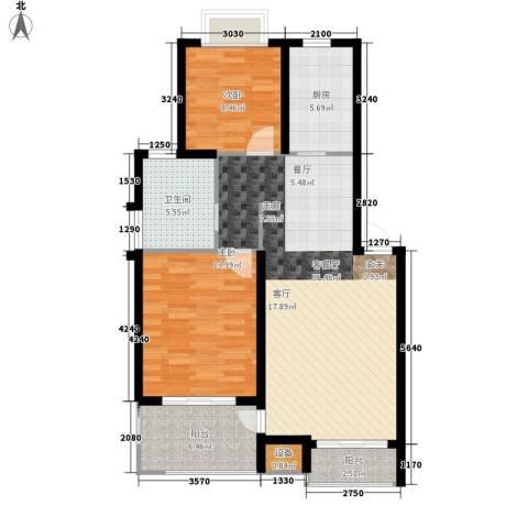 丽阳景苑二期2室1厅1卫1厨85.00㎡户型图