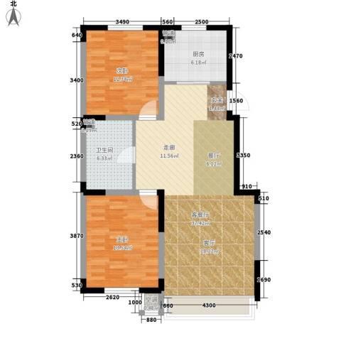 吴中家天下2室1厅1卫1厨89.00㎡户型图