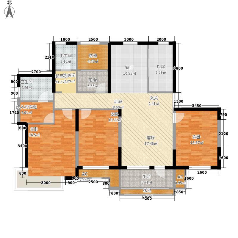 大华锦绣华城155.00㎡D6-户型3室2厅