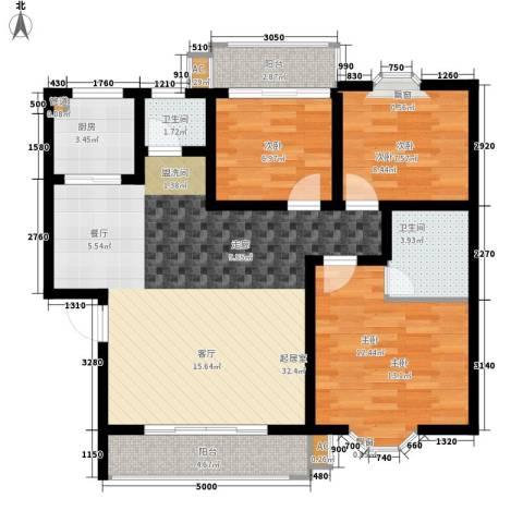 安康・丰景佳园三期3室0厅2卫1厨113.00㎡户型图