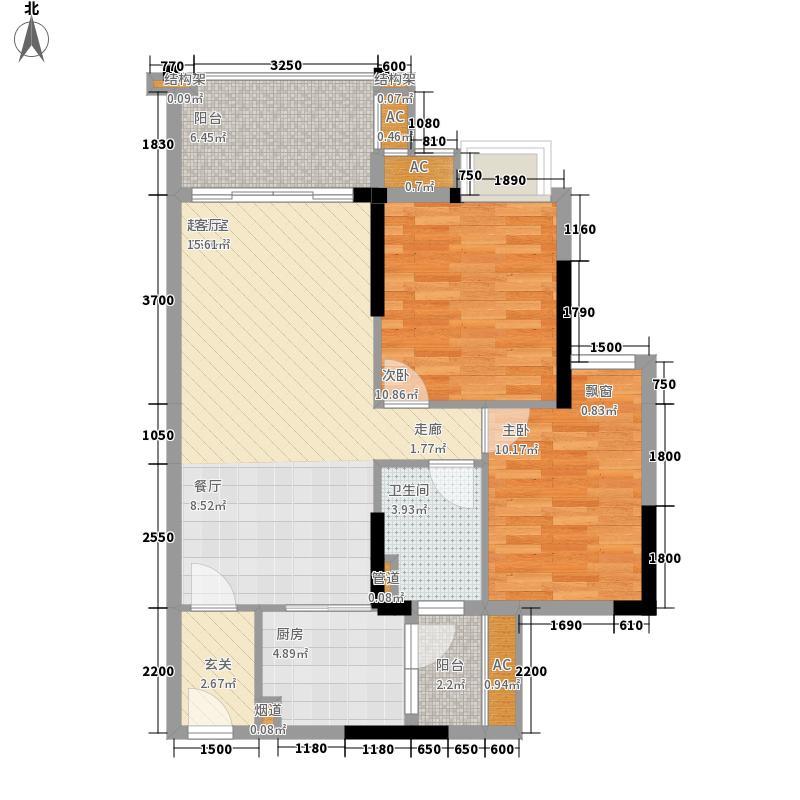 翔隆七色城邦81.53㎡翔隆・七色城邦33-34单元022室户型