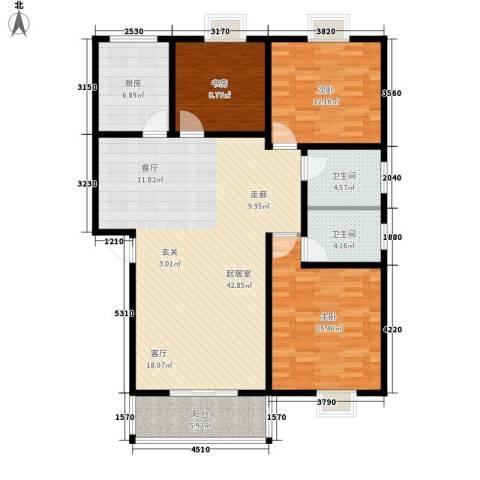 华宇静园3室0厅2卫1厨113.00㎡户型图
