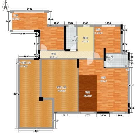 中核・缇香名苑3室0厅2卫0厨203.00㎡户型图