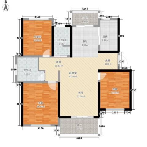 利民君临天下3室0厅2卫1厨140.00㎡户型图