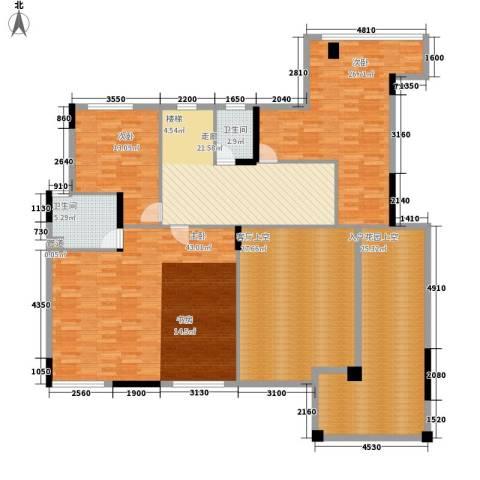 中核・缇香名苑3室0厅2卫0厨227.00㎡户型图