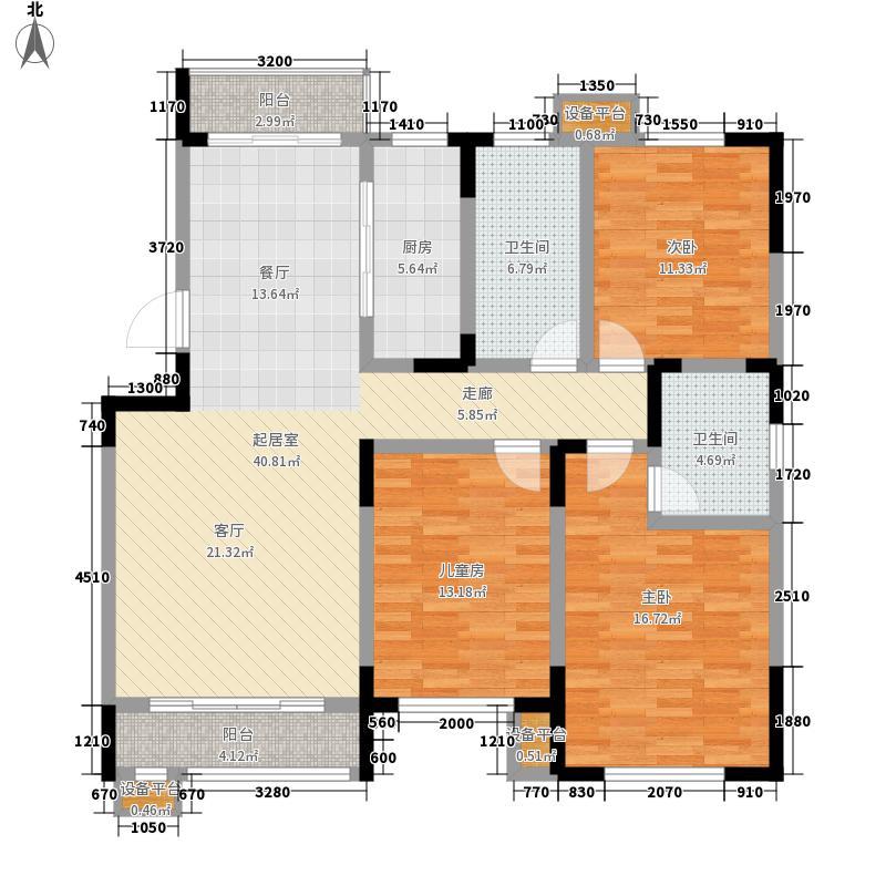 松江城幸福山135.03㎡二期洋房标准层01户型