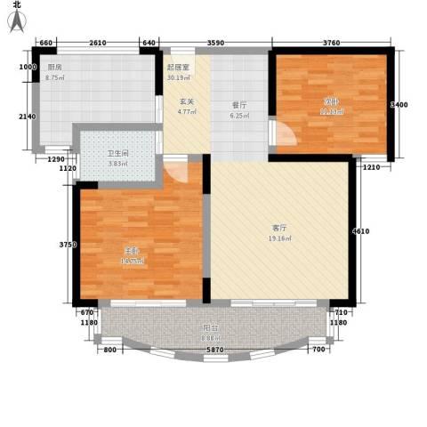 桃园得润居2室0厅1卫1厨94.00㎡户型图