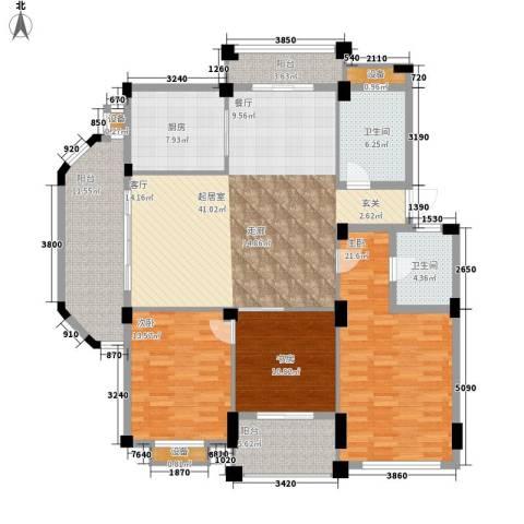 四季翠园3室0厅2卫1厨182.00㎡户型图