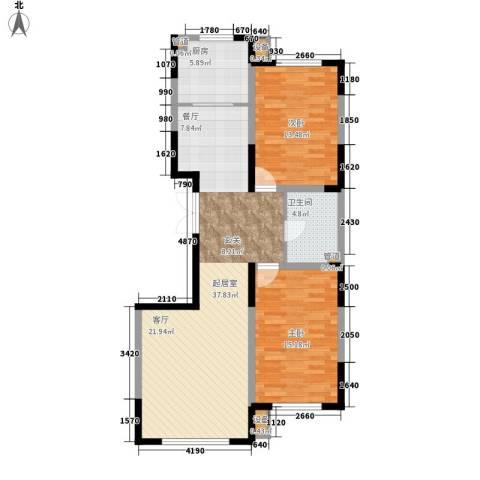 建发滨湖家园2室0厅1卫1厨111.00㎡户型图