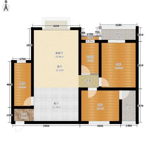 尚高境界2室1厅1卫1厨107.00㎡户型图